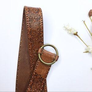 LRL | Embossed Leather Belt